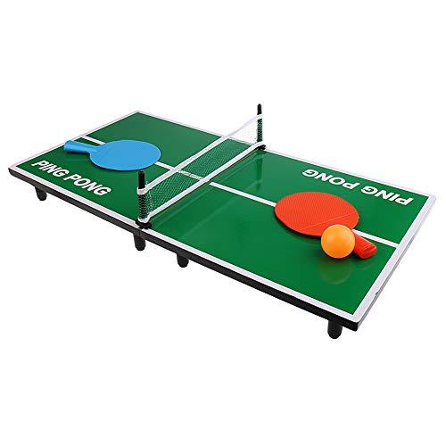 CHAN Jouets d'enfants, Tout Neuf De Haute Qualité Mini Tennis De Table avec Boule Bureau De Simulation De Ping-Pong Scène Jouets Éducatifs
