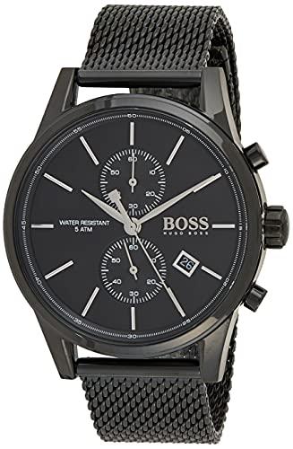 Hugo Boss Herren Analog Quarz Armbanduhr mit Edelstahlarmband 1513769