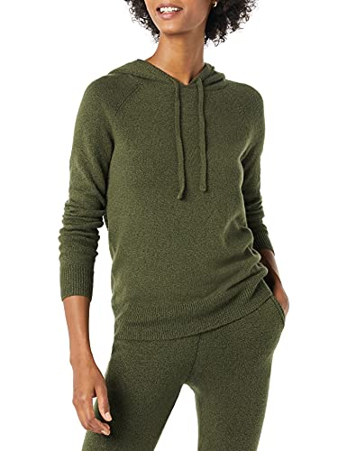 Amazon Essentials Soft Touch Hooded Pullover Sweater, Olivgrün, L