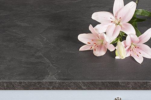 WORKTOPEXPRESS Schwarzer Schiefer - Resopal Küchenarbeitsplatten (3m × 600mm × 38mm)