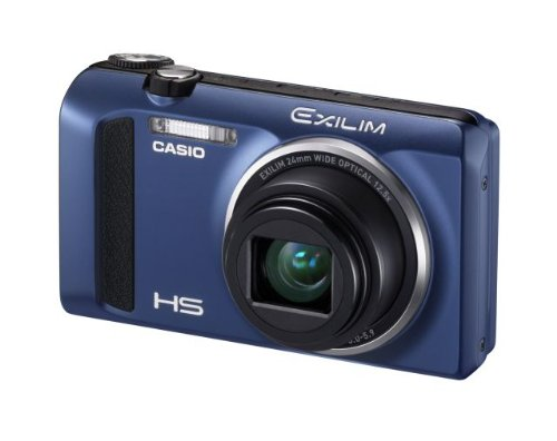 Casio Exilim EX-ZR400 Digitalkamera (16,1 Megapixel, 7,6 cm (3 Zoll) Display, 25-fach Multi SR Zoom, Triple Shot, HDR) blau