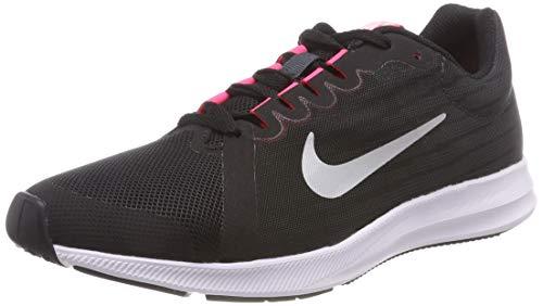 Nike Damen Downshifter 8 GS 922855-001 Laufschuhe, Schwarz (Black/Metallic Silver-Anthracite-White 001), 37.5 EU