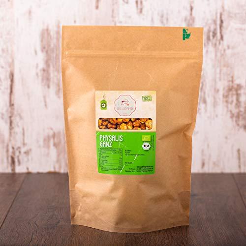 süssundclever.de® Physalis Bio | 1 kg | Premium Qualität: hochwertiges Naturprodukt | plastikfrei abgepackt in ökologisch-nachhaltiger Bio-Verpackung | Kapstachelbeere