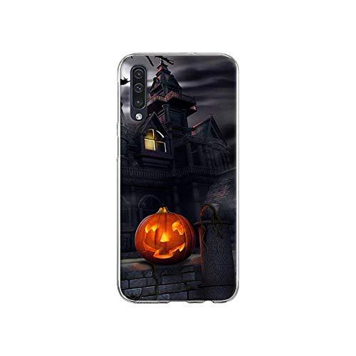Funda blanda para Samsung Galaxy A51 A71 A50 A70 A10 A20 A30 A40 A11 A21 A31 A41 5G 2020 Coque Cover Año Nuevo Happy Halloween-S08-para Samsung A41