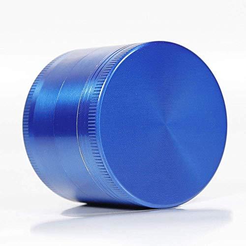 DFBGL Trituradora de Humo de aleación de Cromo de Metal de 4 Piezas de Especias de Hierbas de Tabaco (Color: Azul, tamaño: 50 mm)