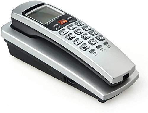 YUBIN Teléfono Teléfono de Pared Teléfono de Pared, Indicador de identificación de Llamadas LHT, Tono de Llamada Ajustable, Línea Fija con Cable a Domicilio, Extensión de Office