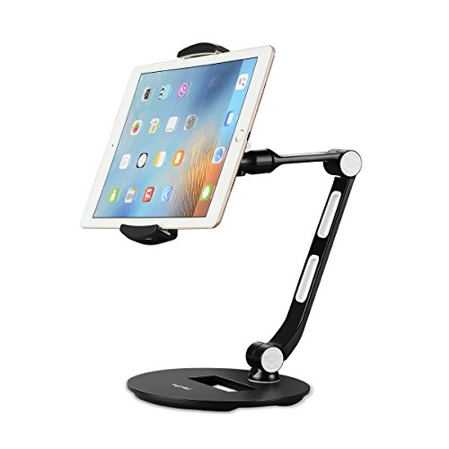 Suptek Aluminum Tablet Phone Holder Mount Stand for iPad, iPhone, Samsung, Asus and More 4.7-11 inch Devices YF208D-S