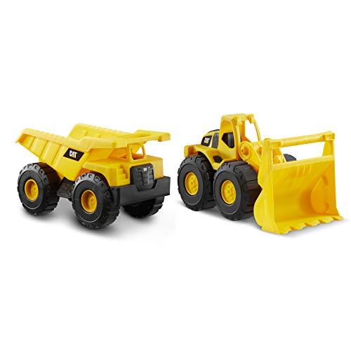 "Cat Construction Tough Rigs 15"" Dump Truck & Loader Toys 2 Pack"