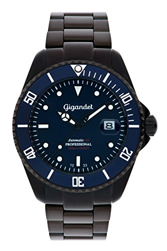 Gigandet Herrenuhr Automatik Analog mit Edelstahlarmband Sea Ground G2-013