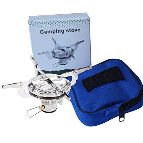 Fesjoy Hornillo portátil para camping al aire libre con mochila, de acero inoxidable, ligero, compatible con pícnic de senderismo
