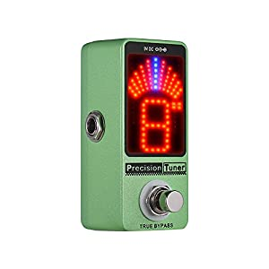 Muslady Präzision Tuner Pedal LED Anzeige mit Wahr Bypass zum Chromatisch Gitarre Bass