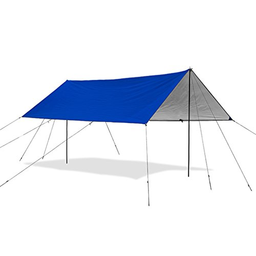 Bâches de protection Auvent auvent Tente Plage Camping Solaire crème auvent auvent crème Solaire UPF50 + UV Protection Plage Tente (Color : Blue, Size : 380 * 290cm)