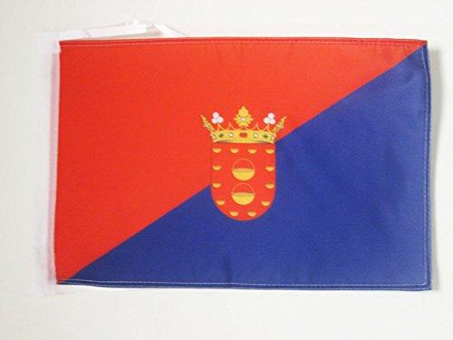 AZ FLAG Bandera de Lanzarote 45x30cm - BANDERINA DE Lanzarote EN Las Islas CANARIAS 30 x 45 cm cordeles