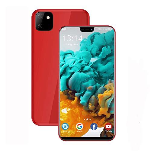 Moviles Libres Baratosde 5,85''Pulgadas Teléfono Móvil 3GB RAM 32GB ROM Android 9.0 Smartphone Libres Quad Core 4200mAh Bateria 13MP Cámara Moviles Barats y Buenos 4G(Rojo)