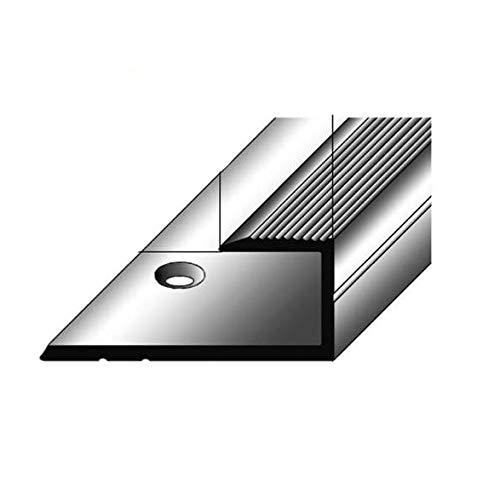 3 Meter (3 x 1 m) Einschubprofil für Laminat / Parkett, 10,3 mm Einfasshöhe, Alu eloxiert, gebohrt
