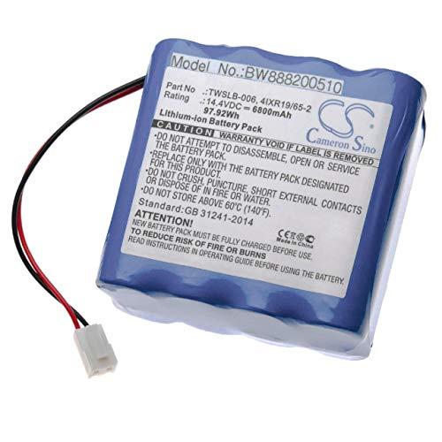 vhbw batería compatible con Edan F6 tecnología médica (6800mAh, 14.4V, Li-Ion)