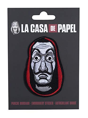 Erik - Parche bordado decorativo de la Máscara, La Casa de Papel, Producto oficial Netflix, Multicolor, 3 x 5.3cm, PTGE001