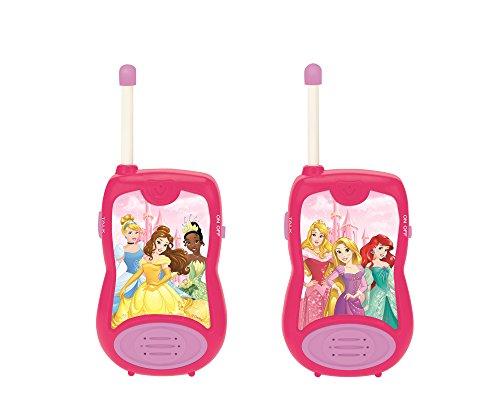 Disney Par, Rango De 100 Metros, Niña (Lexibook TW12DP) Princesas Cenicienta Rapunzel Ariel walkie-talkies, comunicación de Juguete, niñas, Clip para cinturón, con Pilas, Rosa, 26.3 x 10 x 10.9