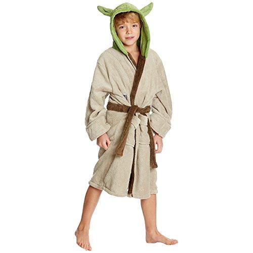 Star Wars Yoda Kinder Bademantel grün - 7/9 Jahre