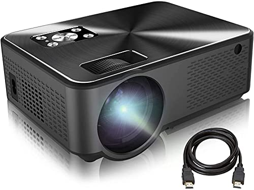 Proyector, Proyector de Video LED Nativo 1080p 4200 Lux, Pantalla de Imagen de 200 Pulgadas Ideal para presentaciones comerciales PPT Home Theatre, Compatible con HDMI, VGA, USB, Fire TV STI