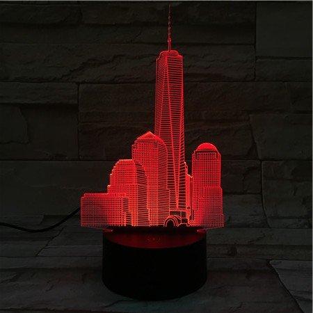 3D Illusion-Nachtlicht Empire State Building LED-Tisch-Schreibtisch-Lampen, 7 Farben USB-Lade, die Schlafzimmer-Dekoration für Kinder Weihnachten Halloween-Geburtstagsgeschenk beleuchten