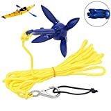 Kayak Anchor with 16.4ft Rope,Folding Anchor Accessories,Grapnel Anchors Trolley Kit Accessory,Portable Folding Anchor Buoy Kit,for Fishing Kayaks,Canoe,Jet Ski,SUP Paddle Board and Small Boats