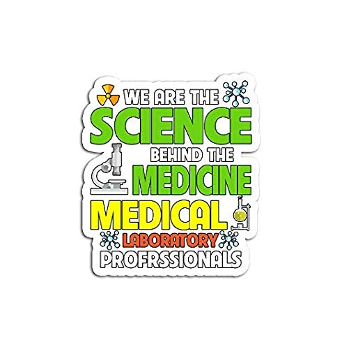 Medical Laboratory Professionals Lab Tech - Sticker Graphic - Auto, Wall, Laptop, Cell, Truck Sticker for Windows, Cars, Trucks
