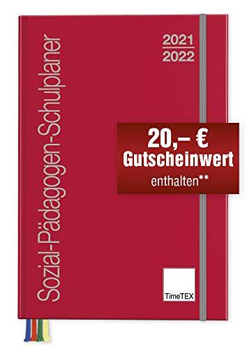 TimeTEX Sozial-Pädagogen-Schulplaner A4-Plus - Schuljahr 2021-2022 - Sozialpädagogen-Kalender - gebunden - Timetex 10558