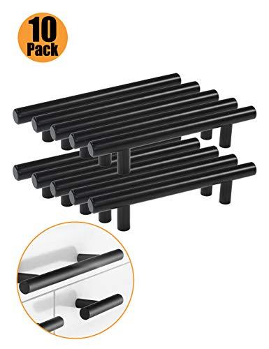 Maniglia a barra per mobili - Probric confezione da 10 nero INOX bianco 9 dimensioni ( 50mm 64mm 76mm 96mm 128mm 160mm 192mm 224mm 256mm )