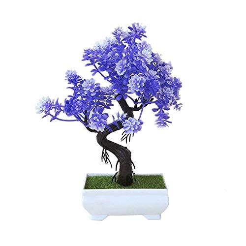 circulor Plantas Artificiales Decorativas, Simulación De Decoración De Mesa De Interior Bonsai Verde Pequeña Planta Verde Decoración De Flores Falsas - Buena Suerte