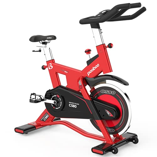 L NOW Indoor Cycling Bike Exercise Bike Stationary Commercial Standard with 40lb Flywheel, Ipad Mount, Soft Cushion, LCD Display, Belt Drive Smooth and Quiet