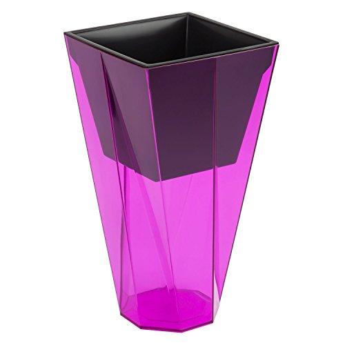 Prosper Plast URBI Twist Pot de Fleurs, Rose Couleur Transparente