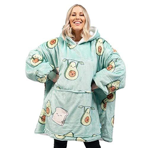 Hoodies, Übergroße Sherpa Hoodie Sweatshirt Decke, Weiche Warme Riesen Hoodie Fronttasche Riesen Plüsch Pullover Decke Mit Kapuze Für Erwachsene Männer Frauen Teenager-Studenten
