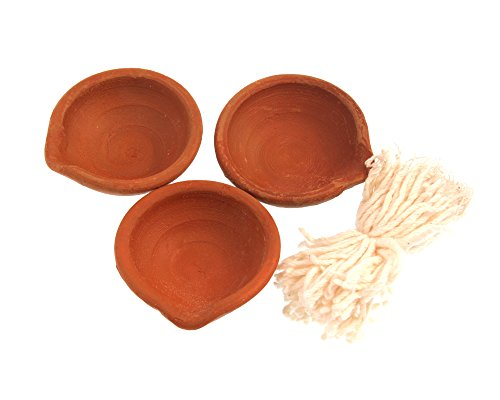 YAKEBA | Butterlampe Diya | Diwali | aus Ton (25)
