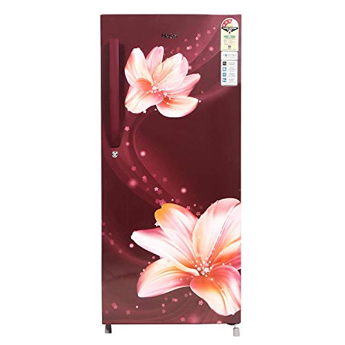 Haier 195 L 3 Star Direct-Cool Single Door Refrigerator (HRD-1953CRS-E, Red Serenity)