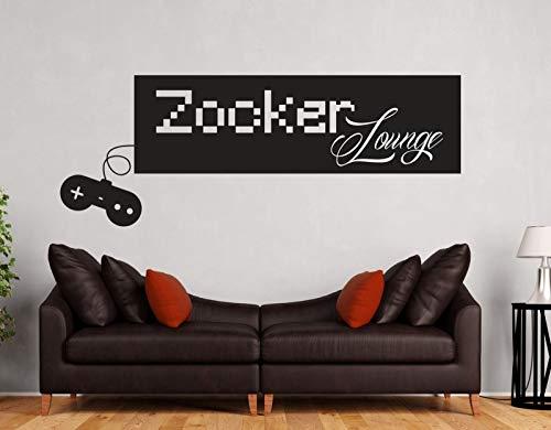 tjapalo® a210 Wandtattoo gamer sprüche Wandtattoo Teenager jugentliche Wandtattoo Zocker Lounge Wandsticker gaming, Farbe: pastellrosa, Größe: B58xH22cm