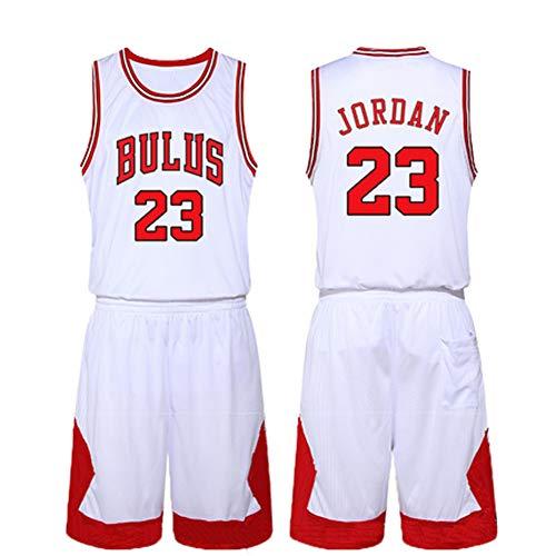 Michael Jordan #23 Basketball Trikot - Klassisches ärmelloses Set, Chicago Bulls, Basketball für Herren Gr. M, weiß