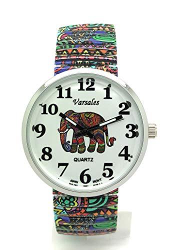 Ladies Novelty Elegant Stretch Elastic Band Fashion Watch Versales (Elephant)