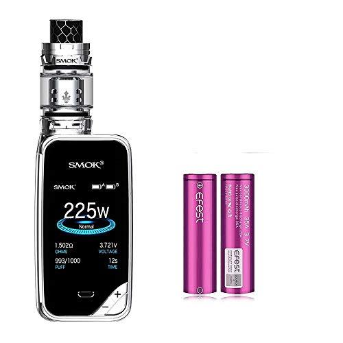 Cigarette électronique, Kit Authentic Smok 225W X Priv, Kit de démarrage Vapes avec réservoir TFV12 Prince de 2 ml et écran coloré, sans nicotine, sans liquide (prisme chrome)