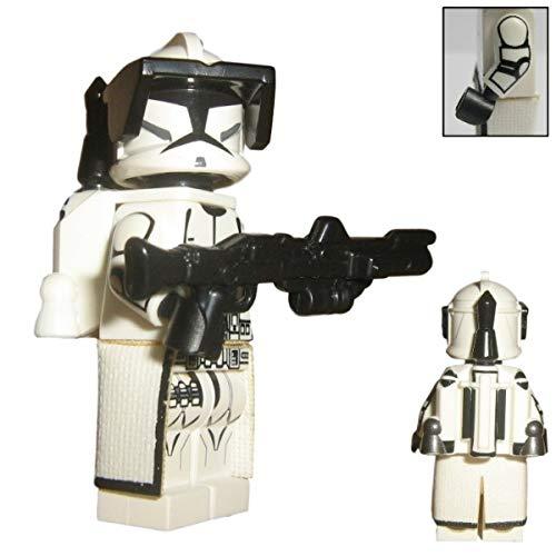 Custom Brick Design Republik Jetpack Clone Trooper Figur V.2 - modifizierte Minifigur des bekannten Klemmbausteinherstellers und somit voll kompatibel zu Lego