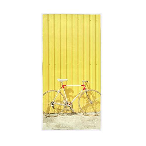 Gast Mehrzweck stark saugfähig für Badezimmer Home Hotel Gym Spa Lonely Fahrrad gelb Badetücher Hand 30 x 15 Zoll dekorative Vintage weich groß