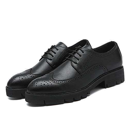 Wsreyj Herrenschuhe Dickbesohlte Spitze Schuhe Ledermode Herren Business Freizeitschuhe@