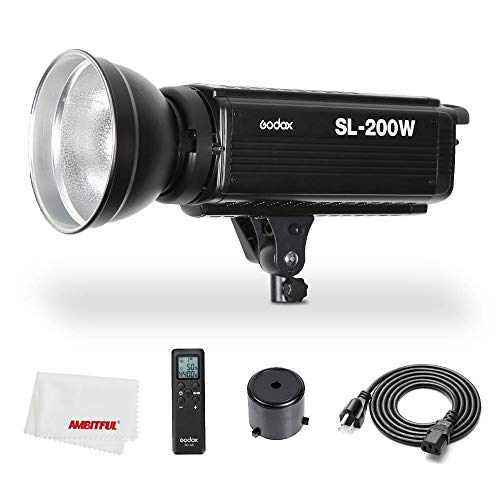 Godox SL-200W SL200W 200Ws 5600K Studio LED Continuous Photo Video Light Lamp w/Remote