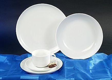 Preisvergleich für Atelier Weiss Kaffee Service 18 teilig Neu Rund Porzellan Geschirr Set 6 Personen