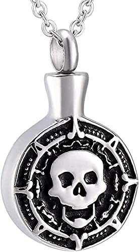 Joyería de cremación para cenizas Collar de recuerdo de ceniza conmemorativo de acero inoxidable Colgante de esqueleto