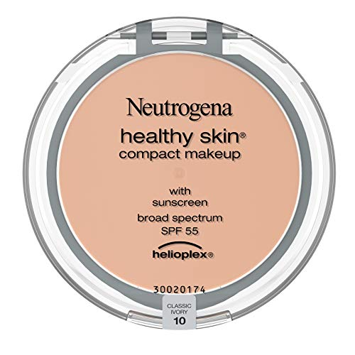 Neutrogena Healthy Skin Compact Lightweight Cream Foundation Makeup with Vitamin E Antioxidants, Non-Greasy Foundation with Broad Spectrum SPF 55, Classic Ivory 10.35 oz