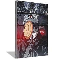 ナルトアニメキャンバス絵画アートポスターキャンバス壁アート絵画ホームベッドルームリビングルームオフィス装飾絵画バー装飾ポスター30x45cm(12x18inch)内枠ポスター4