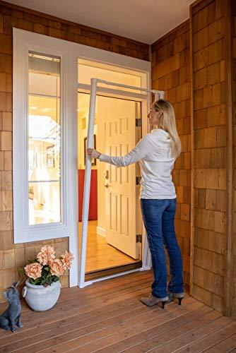 Cool Genius Retractable Screen for Single Door (Tall {Width (32' to 36') x Hight 96', Sandstone)