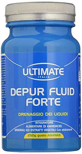 Ultimate Italia Integratore Alimentare per il Drenaggio dei Liquidi - Gusto Ananas, 250 Grammi