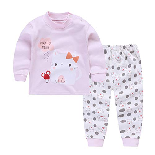 KBWL Kinderbekleidung Bär Pyjamas Kinder Pyjamas Kinder Einhorn Cartoon Kostüm Set Baby Langarm Pyjamas Junge Home Service 9M r